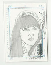 Lucy Lawless XENA Art & Images Hand Drawn Sketch Card SketchaFEX by Scott Rosema