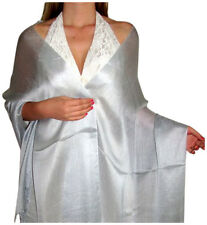 new plain/crystal colored soft/shiny SILK effect pashmina shawl/wrap-SILK touch
