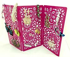 *SALE* 50 PAIRS EARRINGS PINK JEWELLERY BOX ORGANIZER WOMEN GIRL CHRISTMAS GIFT