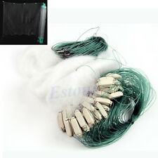 New 25m White Green Clear Monofilament Fishing Fish Gill Net with Float