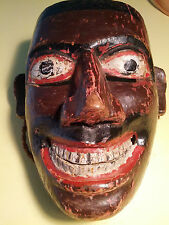 "c1960 Ethnographic Danced Polychrome Sri Lankan Wooden Dance Mask ""Pita Sanniya"""
