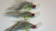 6 Olive Straggle Popper Minkies Trout Flies by Iain Barr Fly Fishing