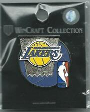 NBA Los Angeles Lakers Purple Basketball & Silver Hoop Pin WinCraft NIP NBA Logo