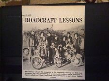 e1-1 ephemera 1972 picture camborne redruth motor cycle safety holman's