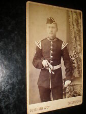 Cdv old photograph soldier by Duyshart at Chelmsford c1890s
