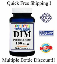 DIM (Diindolylmethane) 200 Caps 100mg 6+ Month Supply SUPER Antioxidant Very HOT