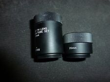 C Mount TV Macro Camera Lens Extension Tube Set 20mm 40mm Microscope