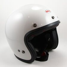NEW - BELL Custom 500 Vintage White Open Face Motorcycle Helmet - Size Small S
