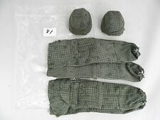 "1/6 Scale Military Army Camo Helmet Pants Set of 2 for 12"" Figure"