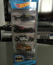Hot Wheels-BATMAN 5 PACK Batcopter,Batmobile,Ford Fusion,Midnight Otto,So Fine 5