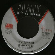"SONNY AND CHER i got you babe/just you OS-13071 usa atlantic oldies 7"" WS EX/"