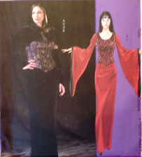 McCalls 4549 ELVIRA MORTICIA GOTH VAMPIRE Dress Capelet 12-16 Sew Pattern New