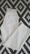 Vintage 60s Levis Big E Pants Size 30 x 29.5 White Sta-Prest High Waist Pencil