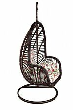 FLASH SALE!!!!! Rattan Hanging Garden Egg Pod Swing Chair With Cushion 67 Coffee