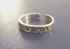 Sterling Silver Toe Ring {MARCASITE} Open Siz 2.5 Child Pinkie Knuckle Midi Girl