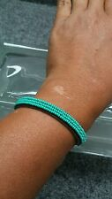 Pretty Chan Luu blue turquoise seed beads leather  bracelet