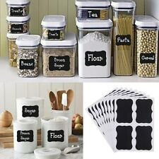 32x Chalkboard Blackboard Stickers Decal Craft Kitchen Jar Jam Label Tags Decor