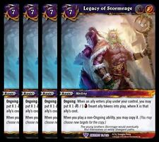4x Legacy of Stormrage War the Ancients Epic 73 World Warcraft WoW TCG Card Game
