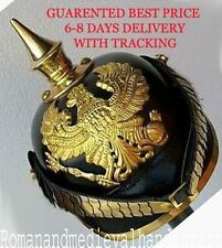 GERMAN LEATHER PICKELHAUBE PRUSSIAN HELMET IMPERIAL OFFICER'S GARDE