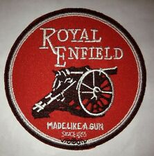 Royal Enfield 'Made Like A Gun'  Embroidered Patch & free matching phone sticker