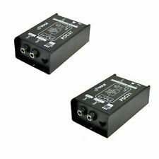"""2 Direct Box In 1/4"""" Unbalanced to Out Balanced XLR for Instruments / Guitars"""
