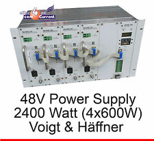 48 VOLT 2400W (4x 600W) POWER SUPPLY VOIGT AND JOE HALE DSLAM VuH USV