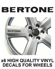 OPEL BERTONE ALLOY WHEEL STICKERS Graphics X6 VAUXHALL