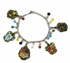Harry Potter House Crests ( 5 Themed Charms) Assorted Metal Charm BRACELET