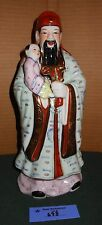 Vintage LARGE Ancient Chinese Wise Man Art Pottery Statue Figurine w/child  #'d