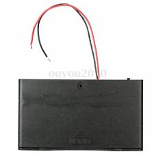 AA 8 Cells Battery 12V Clip Holder Box Case With Cover ON/OFF Switch Wire Lead