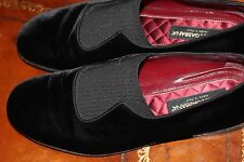 Dolce & Gabbana Black Velvet Loafer Tuxedo Shoe Slippers Size US 9 Made in Italy