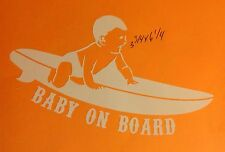 Surfing Decal Baby On Board Surfboard New Born Child Boy Girl Window Car Truck