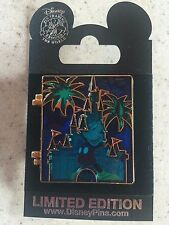 Disney 2010 January WDW Cast Stained Glass Pin Collection Castle Mickey Pin MOC