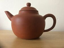 antique chinese yixing teapot 19th century good condition seal mark to base.