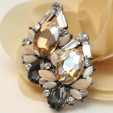 2016 New design women gorgeous bib statement  mixed crystal long Earrings e272