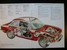 1969 Alfa Romeo GTV Car Cut Away Drawing POSTER, 1988 italian print 1966-1976