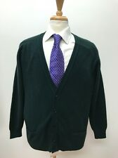 $198 Pringle Men's Hunter Green Scottish Made 100% Cashmere Golf Sweater Size L