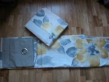 NEXT YELLO OCHRE FLORAL BLOOM WATERCOLOUR FLORAL CURTAINS EYELET LINED 53X 90""