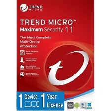 Trend Micro Maximum Security 11 (2017) | 1 Year Licence | 1 Device