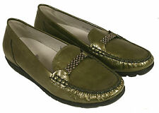 Ladies' Casual Step In Shoes Waldlaufer 437551 Olive UK Size 4.5 E Fitting