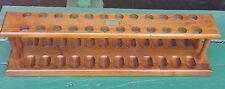 Genuine Walnut Pipe Rack for 24 pipes, made by Decatur Industries Inc. USA