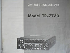 KENWOOD TR-7730 (GENUINE MANUAL ONLY)............RADIO_TRADER_IRELAND.