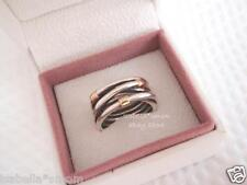 SILVER ROPE Authentic PANDORA Sterling Silver/14K GOLD Wrap RING Sz 8.5/58 NEW