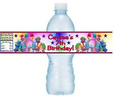 12 Trolls Birthday Party OR Baby Shower Water Bottle Stickers Labels Wrappers