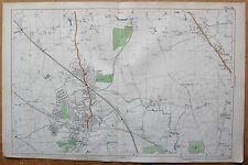 1912 Ca LARGE SCALE BACON STREET MAP- LONDON - HARROW, WEALDSTONE, EDGEWARE, ROX