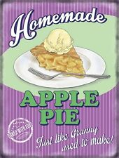 Apple Pie Homemade, 50's Dinner Kitchen Cafe Food Retro, Small Metal/Tin Sign
