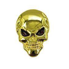Tete de mort skull 3d métal emblème autocollant sticker voiture moto bike skeleton