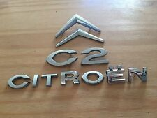 CITROEN C2 REAR BADGE LOGO EMBLEM 9652477877 SET (D50)