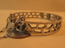 Vintage Sterling Silver Turquoise Miguel Melendez Taxco Mexico Bracelet HEAVY!