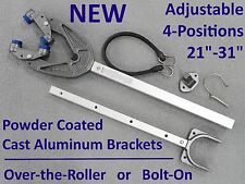 "NEW Outboard Boat Motor Support Bracket Transom 21""-31"" Over the Roller Bolt On"